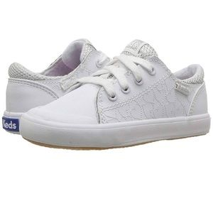 Toddler girl size 9 KEDS white sneakers